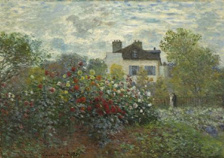 Monet, Claude: The Garden of Monet at Argenteuil. Fine Art Print/Poster. Sizes: A4/A3/A2/A1 (002835)